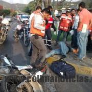 motociclista accidentado